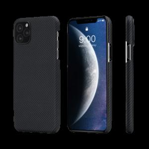 Pitaka AirCase tok Fekete/Szürke Twill Apple iPhone 11 Pro (KI1101A)