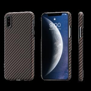 Pitaka MagEZ Case tok Fekete/Arany Twill Apple iPhone Xs (KI8006XS)