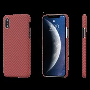 Pitaka MagEZ Case tok Fekete/Narancs Heeringbone Apple iPhone Xs Max (KI9007XM)