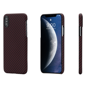 Pitaka MagEZ Case tok Fekete/Piros Twill Apple iPhone Xs (KI8003XS)