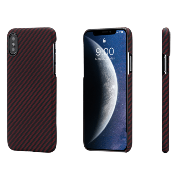 Pitaka MagEZ Case tok Fekete/Piros Twill Apple iPhone Xs Max (KI9003XM)
