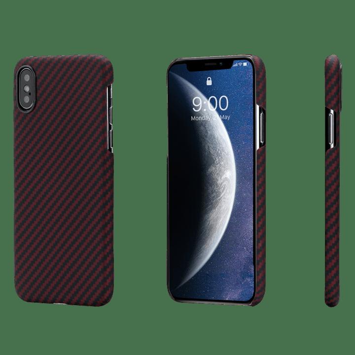 Pitaka-MagEZ-Case-tok-FeketePiros-Twill-Apple-iPhone-Xs-Max-KI9003XM