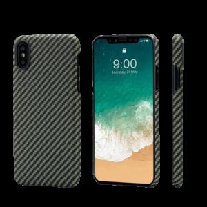 Pitaka MagEZ Case tok Fekete/Sárga Twill Apple iPhone Xs (KI8005XS)