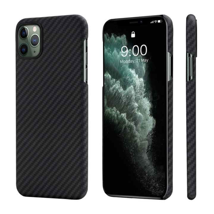 Pitaka-MagEZ-Case-tok-FeketeSzurke-Twill-Apple-iPhone-11-Pro-KI1101