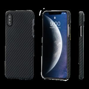 Pitaka MagEZ Case tok Fekete/Szürke Twill Apple iPhone Xs (KI8001XS)